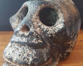 Carved Stone Skull