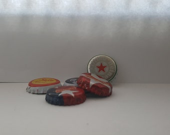 Set of 5 assorted bottle caps