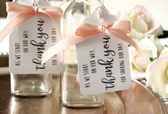 Wedding Favor Ribbon Tags : Favor Tag with Ribbon, Wedding Favor Tag with Satin Bow, White Favor ...