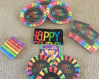 """Rainbow-ish """"party in a box"""" 24 guest"""