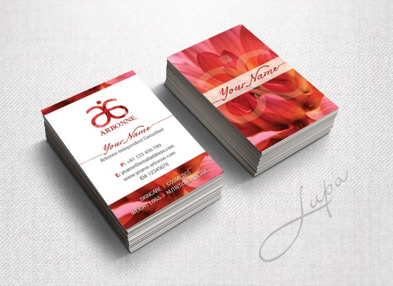 Arbonne Business Cards 10 digital files supplied only