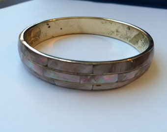 Mother of pearl inlay bangle