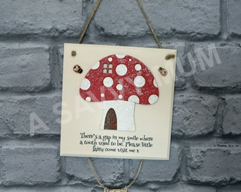 Tooth Fairy Plaque (Fairy or Toadstool), tooth fairy, fairy