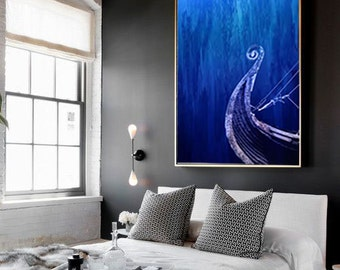 sunken ship digital print