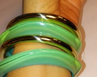 Bangle bracelets Fashion Jewelry. Woman gift idea.