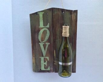 Rustic love wine vase