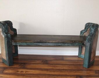 unique Repurposed bench