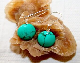 Howlite drop earrings