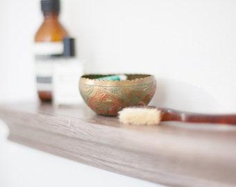 Mini Scalloped Brass Bowl