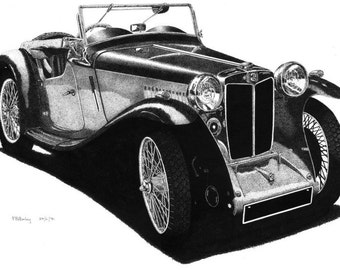 Pen & Ink Drawing, A4 - MG TD