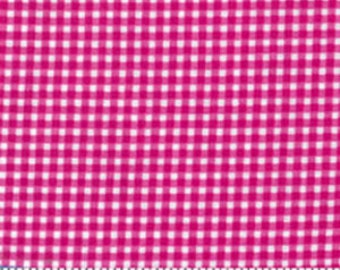 Tiny Gingham in Fuchsia by Michael Miller