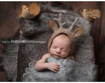 FREE Shipping! Newborn Deer Bonnet