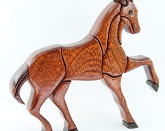 HORSE 1 - Wood Flair - Wood Sculputure-ANIMALS