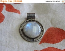 halloween treats sale stunning vintage large sterling silver and moonstone pendant