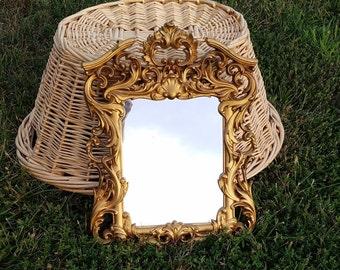 Ornate mirror - gold gilt