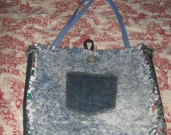 Rag Denim Purse/Tote/ Diaper Bag