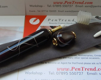 Handmade Perfume Dabber/Applicator in 'Cola' Acrylic by PenTrend, Staffordshire