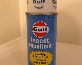 Vintage Gulf Oil Co. Insect repellent 5ozs.collectible full can