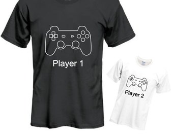 Player 1 Player 2 shirt set