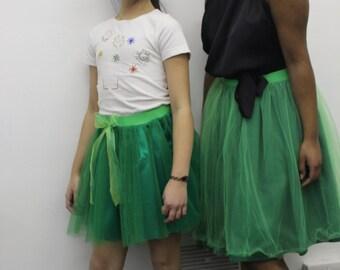 Green adult tulle skirt