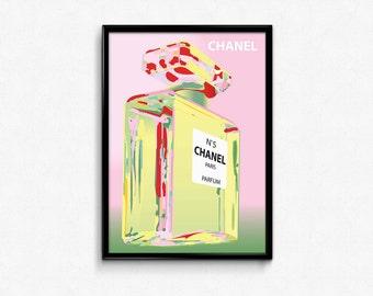 Chanel Pink Art Print