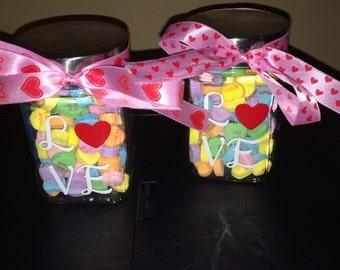 LOVE candy jars