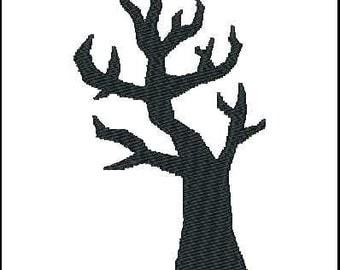 Fill Embroidery Design, Halloween, Creepy Tree, File, Digital, Download, Machine
