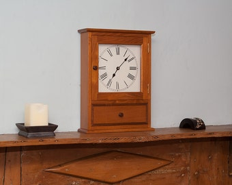 Acacia & Walnut Mantle Clock - Wall Clock