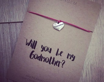 Will you be my Godmother wish bracelet