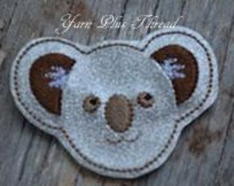 Koala Feltie Embroidery Design