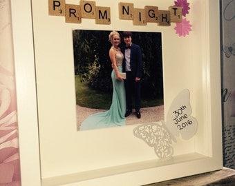 Prom night scrabble frame