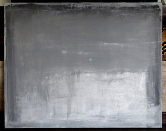 Minimal grey mixed media painting