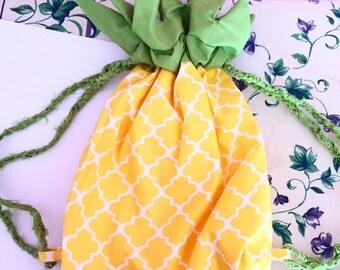 Pineapple Cutie Drawstring Backpack