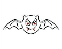 Vimpier Bat Diamante Motif Rhinestone Transfer