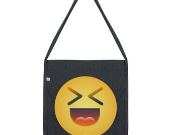 Excited Emoji Tote Bag