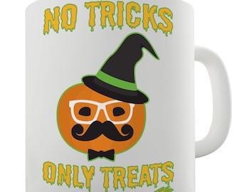 No Tricks Only Treats Ceramic Tea Mug