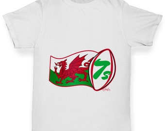 Boy's Rugby 7S Wales T-Shirt