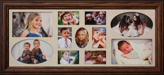 8x20 Multi Opening Cream Mat Collage Frame By Classycraftsinc