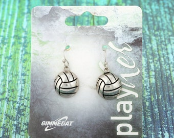 Silvertoned Volleyball Dangle Earrings - Great Volleyball Gift! Free Shipping!