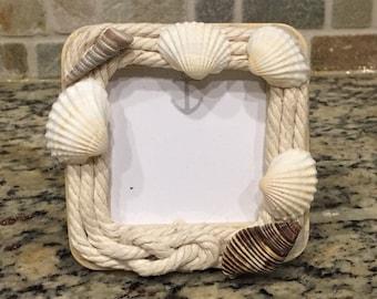 Seashell Rope Frame