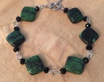 Green Copper Jasper Bracelet