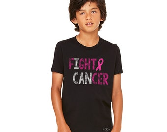 Fight Cancer Breast Cancer Shirt Youth T-shirt Cancer Awareness Kid's Shirts