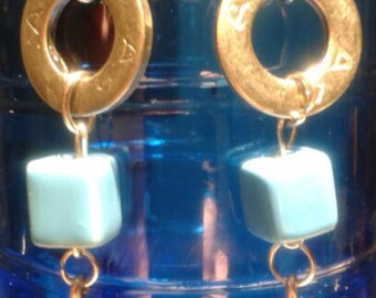 Earrings pendants collection Dune blue was 2016 version Gold