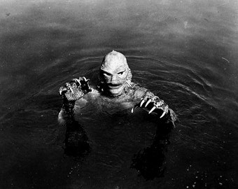 """The """"Gill-Man"""" From the Film """"Creature From the Black Lagoon"""" - 5X7, 8X10 or 11X14 Publicity Photo (AA-729)"""