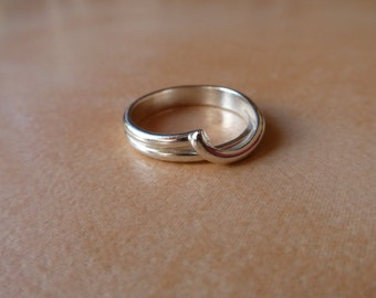 Silver abstract ring