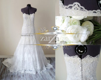 Wedding Dress/Lace Mermaid Sweetheart Strapless Bridal Dress/Trumpet Wedding Dress