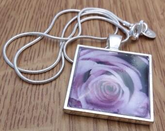 Handmade Purple Rose Necklace by KLiKccessorizes