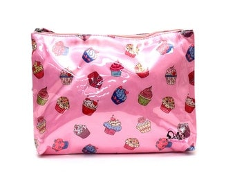 Cupcakes Cosmetic Bag Makeup Case Travel Toiletries Accessories Organiser