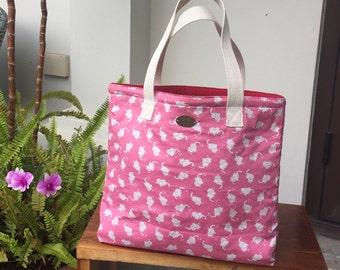 Cutie baby elephant pink handbag