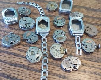 vintage watch parts lot